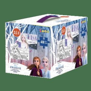 LUNA Παζλ Χρωματισμού Frozen II, 2 Όψεων, 48 Τμχ., 35x50 εκ (562640), box
