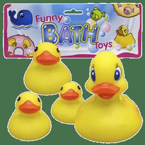 Σετ 4 Παπάκια Για Το Μπάνιο