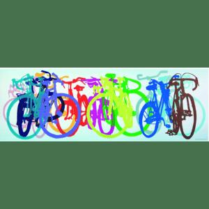 Heye Puzzle 1000pcs, Bike Art – Χρωματιστά Ποδήλατα Panorama (29737)