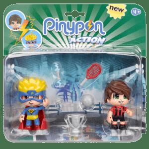Giochi Preziosi Pinypon Action Φιγούρα 2τμχ - Υπερ-ήρωας & Ποδοσφαιριστής (700014492-2)