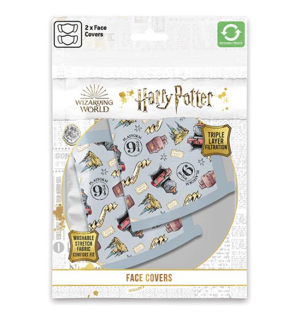 Μάσκα Υφασμάτινη 3 Στρώσεων (2Τμχ) hogwarts harry potter