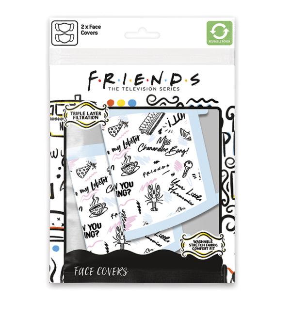 Μάσκα Υφασμάτινη 3 Στρώσεων (2Τμχ) Phrases (Friends)