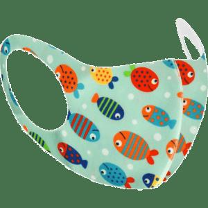 PMS International Υφασμάτινη Παιδική Μάσκα - Ψαράκια 1 Τμχ (PM755034-1)