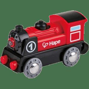 Hape Railway Ξύλινη Ατμομηχανή No1 B/O (E3703A)