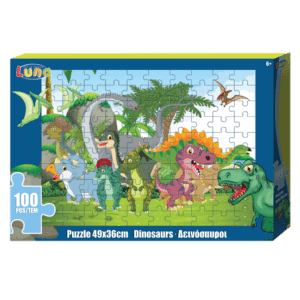 LUNA Παζλ 100 κομμάτια 49x36 Δεινόσαυροι (0621581)