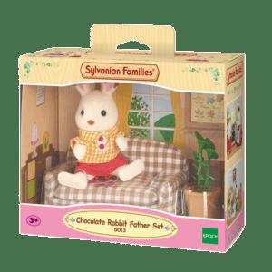 Epoch Sylvanian Families: Chocolate Rabbit Μπαμπάς & Καναπές (5013)