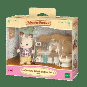 Epoch Sylvanian Families: Σετ Chocolate Rabbit Αγοράκι & Σετ Μπάνιου (5015)