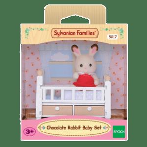 Epoch Sylvanian Families: Chocolate Rabbit Μωρό & Κούνια (5017)