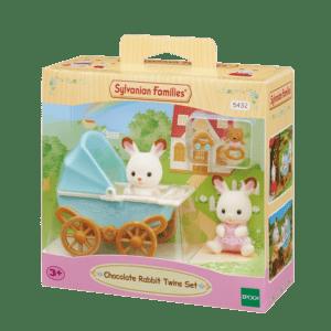 Epoch Sylvanian Families: Σετ Δίδυμα Μωρά Chocolate Rabbit Twins (5432)