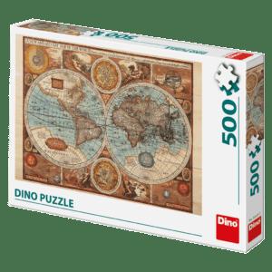 Dino Puzzle Αρχαίος Παγκόσμιος Χάρτης 2D 500pcs (50230)