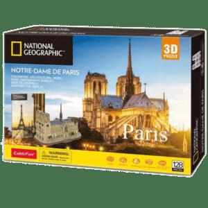 CubicFun 3D Puzzle 128pc, National Geographic Notre Dame De Paris (DS0986h)