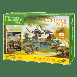 CubicFun 3D Puzzle 43pc, National Geographic Dinosaur Park (DS0973h)
