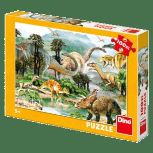 Dino Puzzle H Ζωή των Δεινοσαύρων 100pcs (34343)