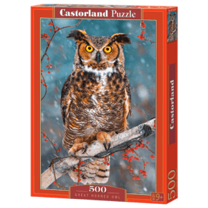 Castorland Puzzle 500pcs, Great Horned Owl (Β52387)