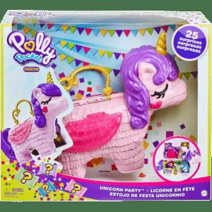 Mattel Polly Pocket Polly Μονόκερος Πινιάτα Έκπληξη Σετ (GVL88)