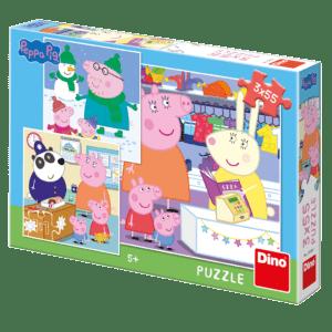 Dino Puzzle Peppa Pig: Απογευματινή Βόλτα 3x55 Τεμ (33530)