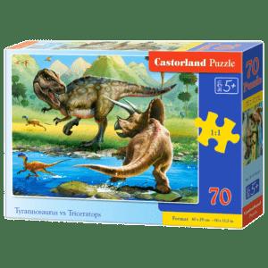 Castorland Puzzle 70pcs, Tyrannosaurus vs Triceratops (Β-070084)