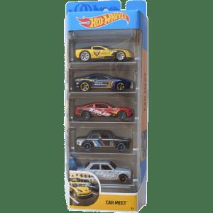Mattel Hot Wheels Αυτοκίνητα Σετ των 5 Τεμαχίων Car Meet (1806/GHP52)