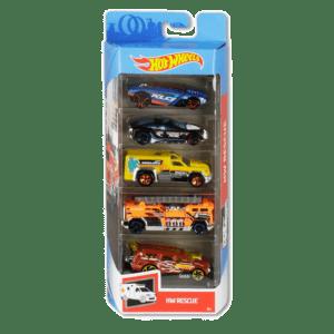 Mattel Hot Wheels Αυτοκίνητα Σετ των 5 Τεμαχίων HW Rescue (1806/GHP61)