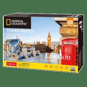 CubicFun 3D Puzzle 120pc, National Geographic London Tower Bridge (DS0978h)
