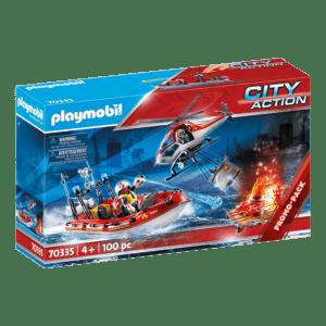 Playmobil City Action: Πυροσβεστικό Σκάφος Και Ελικόπτερο (70335/10466)