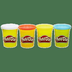 Hasbro Playdoh Classic Color Pack 4 Βαζάκια (E6508/B5517)