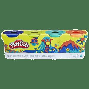 Hasbro Playdoh Wild Color Pack 4 Βαζάκια (E4867/B5517)