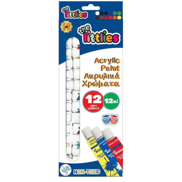 The Littlies Ακρυλικά Χρώματα 12ml 12 Χρώματα (0646776)