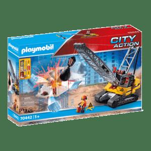 Playmobil City Action: Γερανός Κατεδάφισης Με Ερπύστριες Και Δομικά Στοιχεία (70442)