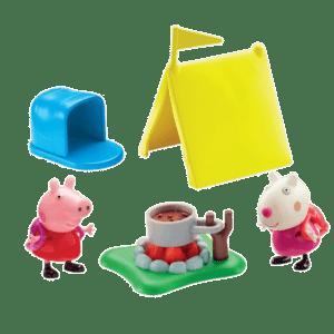Giochi Preziosi Peppa Pig Σετ Παιχνιδιού, Κάμπιγκ Με 2 Φιγούρες (PPC40001/PPC4000)