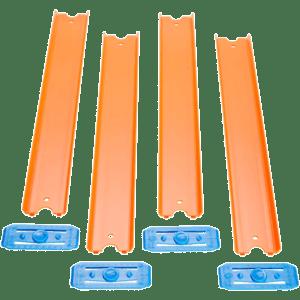 Mattel Hot Wheels Track Builder Πορτοκαλί Ράγες Πίστας Με Συνδέσμους (GLD49/GLD47)