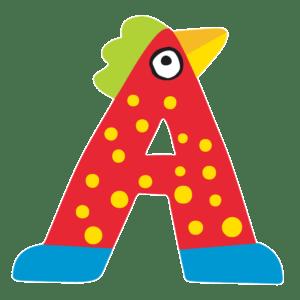 Tatiri Ξύλινο Γράμμα 'Α', 2 Σχέδια (00366)