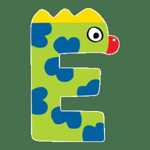 Tatiri Ξύλινο Γράμμα 'Ε', 2 Σχέδια (00370)