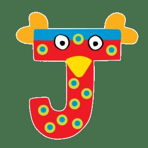 Tatiri Ξύλινο Γράμμα 'J', 2 Σχέδια (760003)
