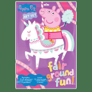 Art Set Peppa Pig Προσχεδιασμένες Σελίδες Χρωματισμού & Αυτοκόλλητα (482609)