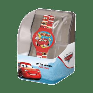 Ρολόι Με Λουράκι Cars Σε Πλαστικό Κουτί (562692)