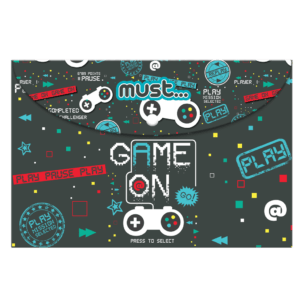 Must Φάκελος με Κουμπί A4 Game On (0584287)