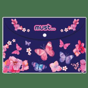 Must Φάκελος με Κουμπί A4 Butterfly (0584292)