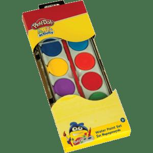 Play-Doh Νερομπογιές 12 Χρώματα & 1 Πινέλο (320-30001)