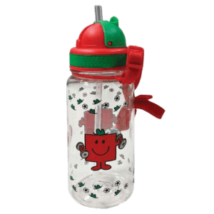 Μικροί Κύριοι - Ο Κύριος Δυνατός, Πλαστικό BPA FREE Παγούρι με Καλαμάκι 350ml (HP.BTS.WB.001)