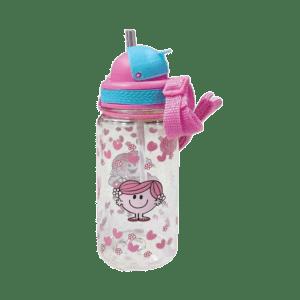Μικροί Κύριοι - Η Κυρία Αγκαλίτσα, Πλαστικό BPA FREE Παγούρι με Καλαμάκι 350ml (HP.BTS.WB.002)