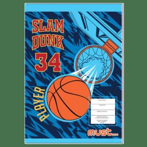 Must Τετράδιο Καρφίτσα Basketball 17x24 40φ (584364)