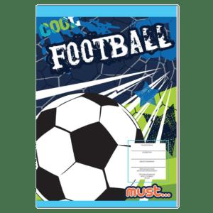 Must Τετράδιο Καρφίτσα Football 17x24 40φ (584364)