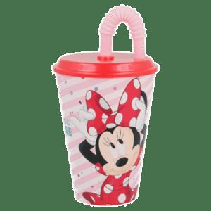 Disney Minnie Mouse Πλαστικό Ποτήρι Με Καλαμάκι 430ml (B18830)