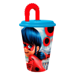Ladybug Πλαστικό Ποτήρι Με Καλαμάκι 430ml (B86930)