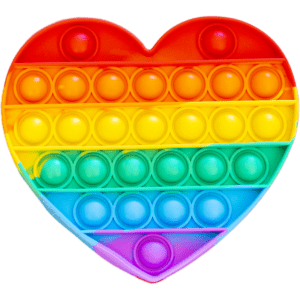 Silicone Pop Bubble Toy Heart 15x14 cm (14234)