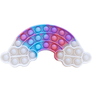 Silicone Pop Bubble Toy Rainbow 21x10 cm (14233)