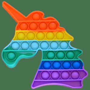 Silicone Pop Bubble Toy Unicorn 18x18 cm (14168)