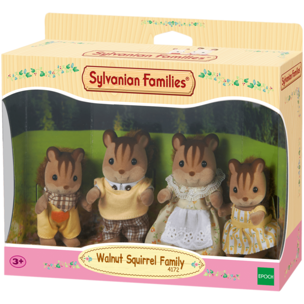Epoch Sylvanian Families: Οικογένεια Walnut Squirrel (4172)