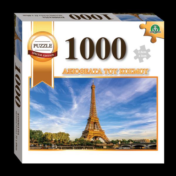 Giochi Preziosi Puzzle 1000pcs, Τα Αξιοθέατα του Κόσμου, Πύργος του Άιφελ (LAN00000)